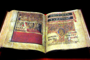 Book IV of the Codex Calixtino in the Cathedral of Santiago de Compostela