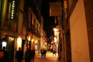 Calle del Franco in Santiago de Compostela in the year 2013