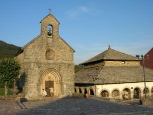 "Capilla de Santiago and the well-known ""silo de Carlomagno"" in Roncesvalles"