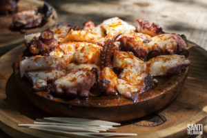 "Galician octopus called ""Pulpo a feira"", an incredible spanish food"