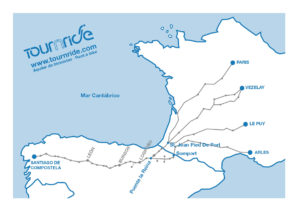Map of the French route