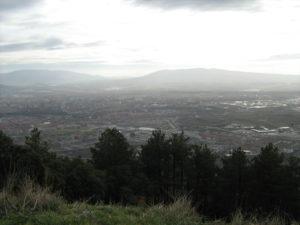 Vista de Pamplona desde el monte Ezkaba