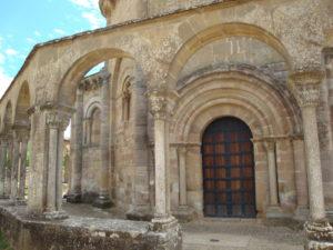 Detail of the church of Santa María de Eunate