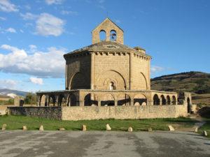 Church of Santa Maria de Eunate on a sunny day