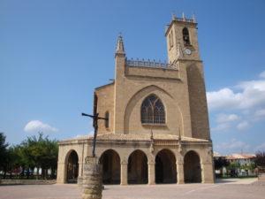 Western facade of the church of San Juan Bautista in Obanos