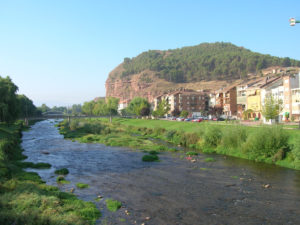 The river Najerilla and Nájera on its banks