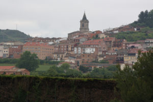 View of Navarrete from the road doing the French way by bike