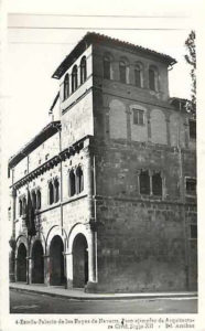 Old photograph of the Palace of the Kings of Navarre