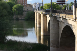 Stone bridge in the city of Logroño