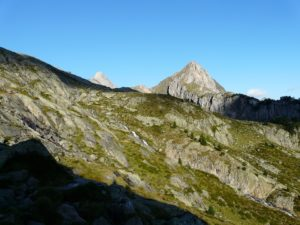 Pico de Paderna in the Pyrenees in a sunny day