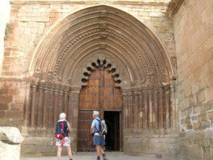 Stone cover of the church of San Román
