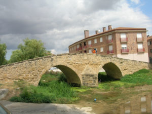 Villatuerta bridge doing the Saint James Way by bike