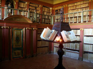 Library of San Millán de la Cogolla, in the monastery of Yuso