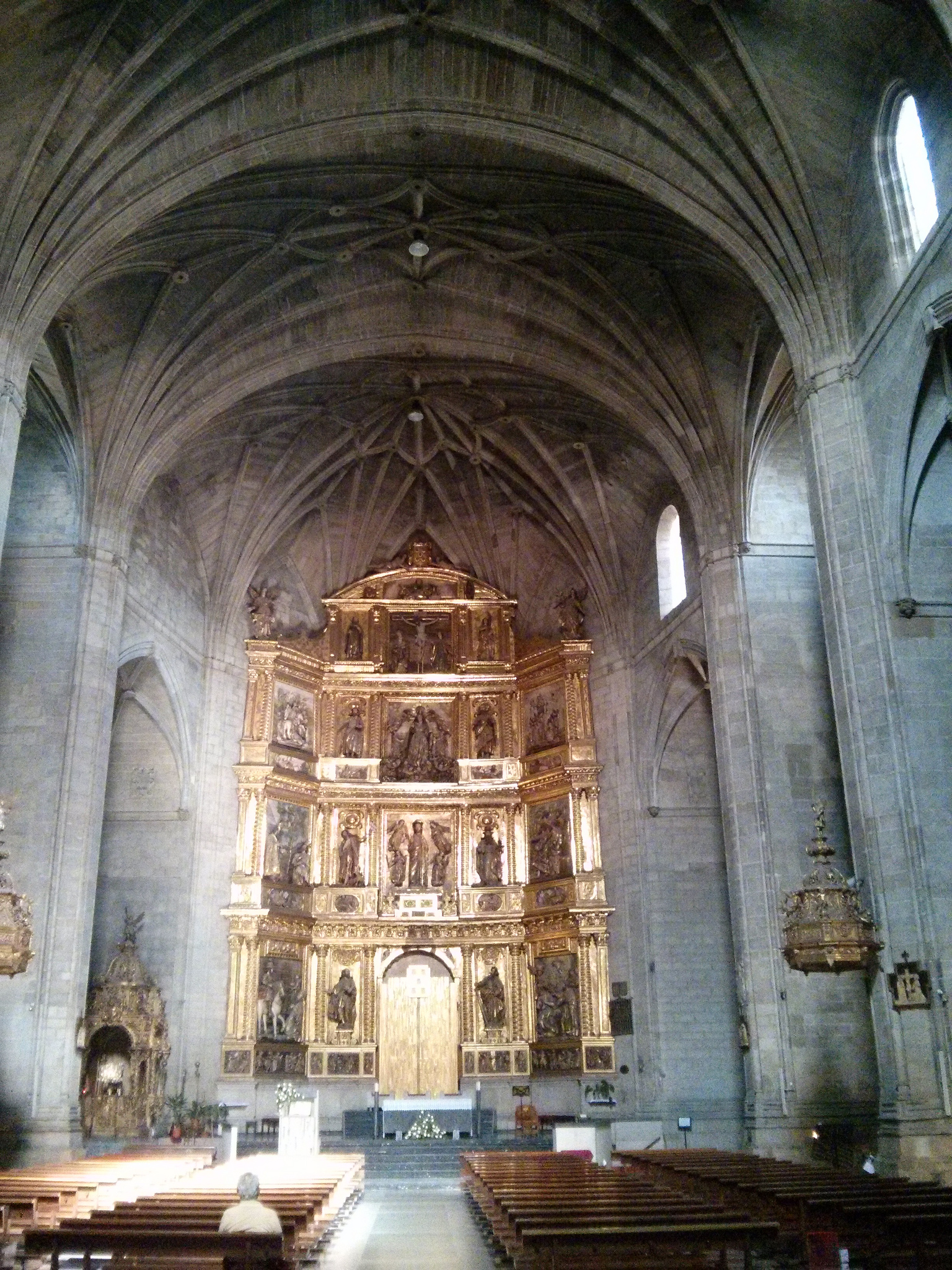 Interior of the Cathedral of Santa María la Redonda in Logroño