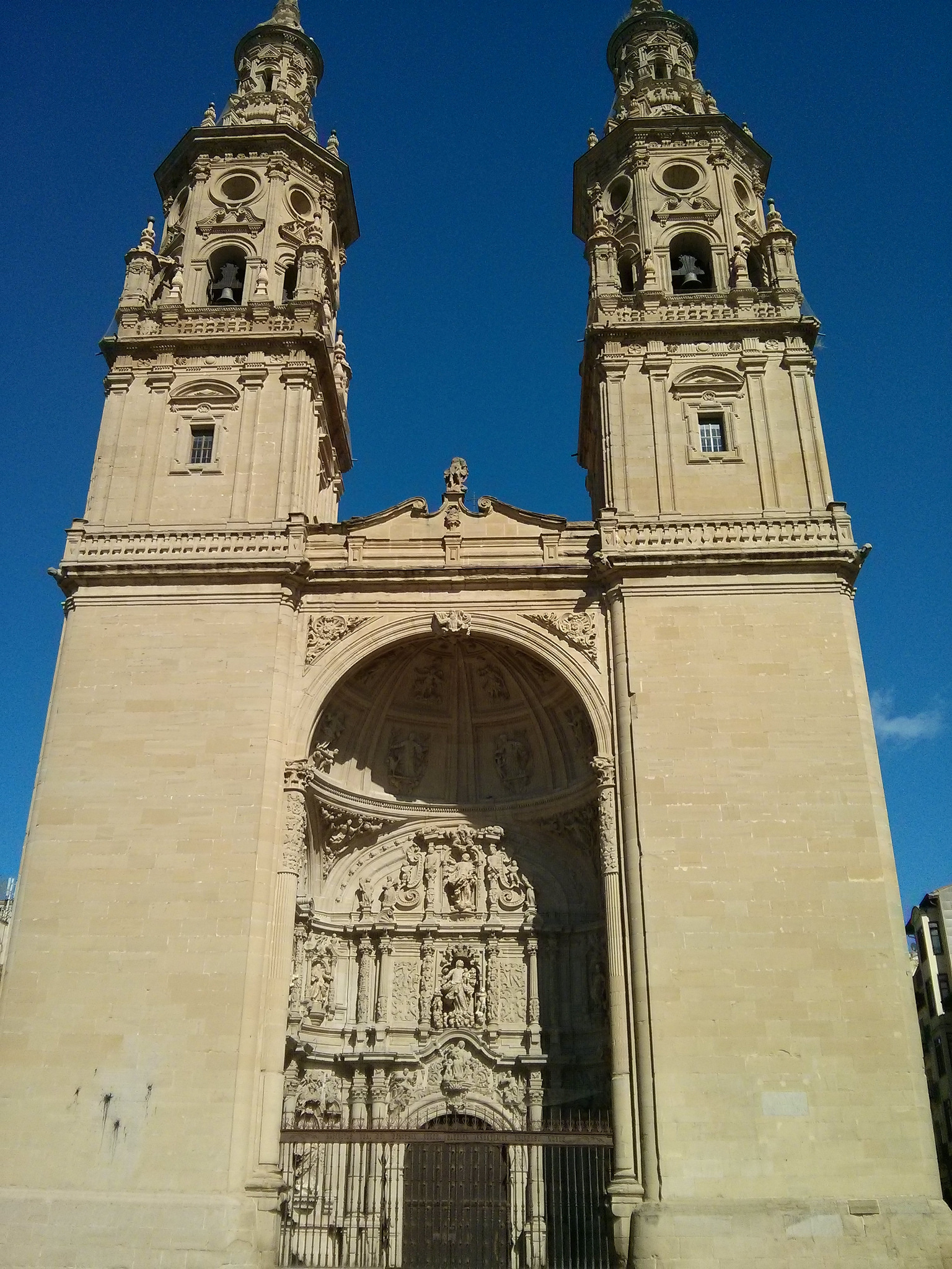Facade of the Cathedral in Logroño