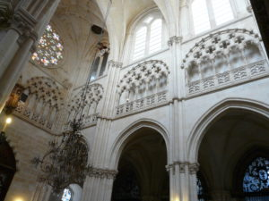 Interior of the cathedral of Burgos, where you can see the decorated blind triforium