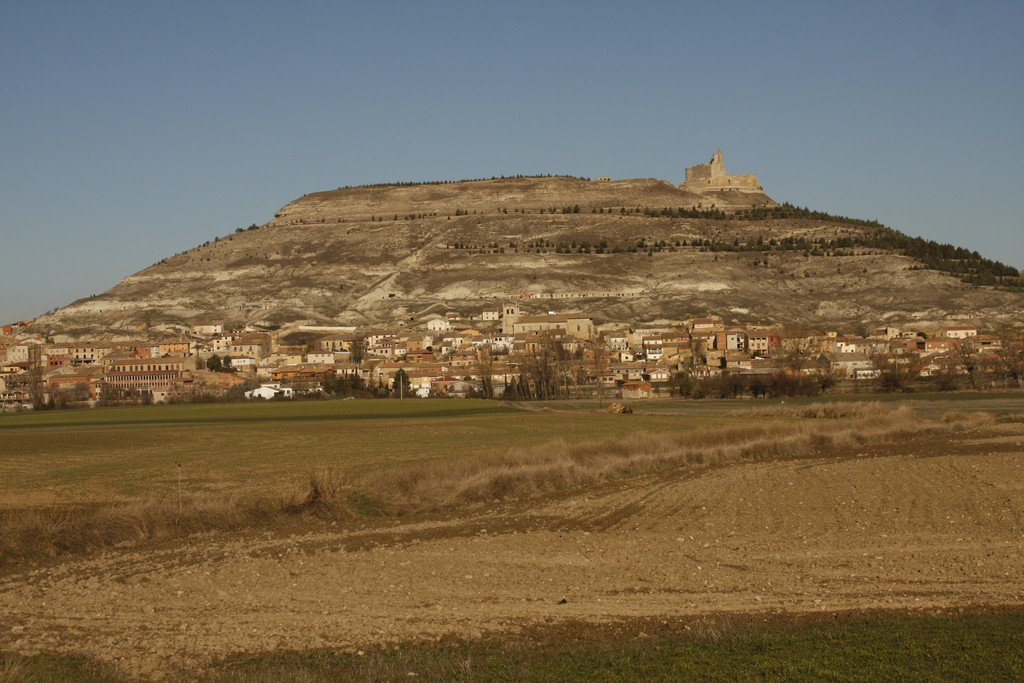 Castrojeriz village in the background