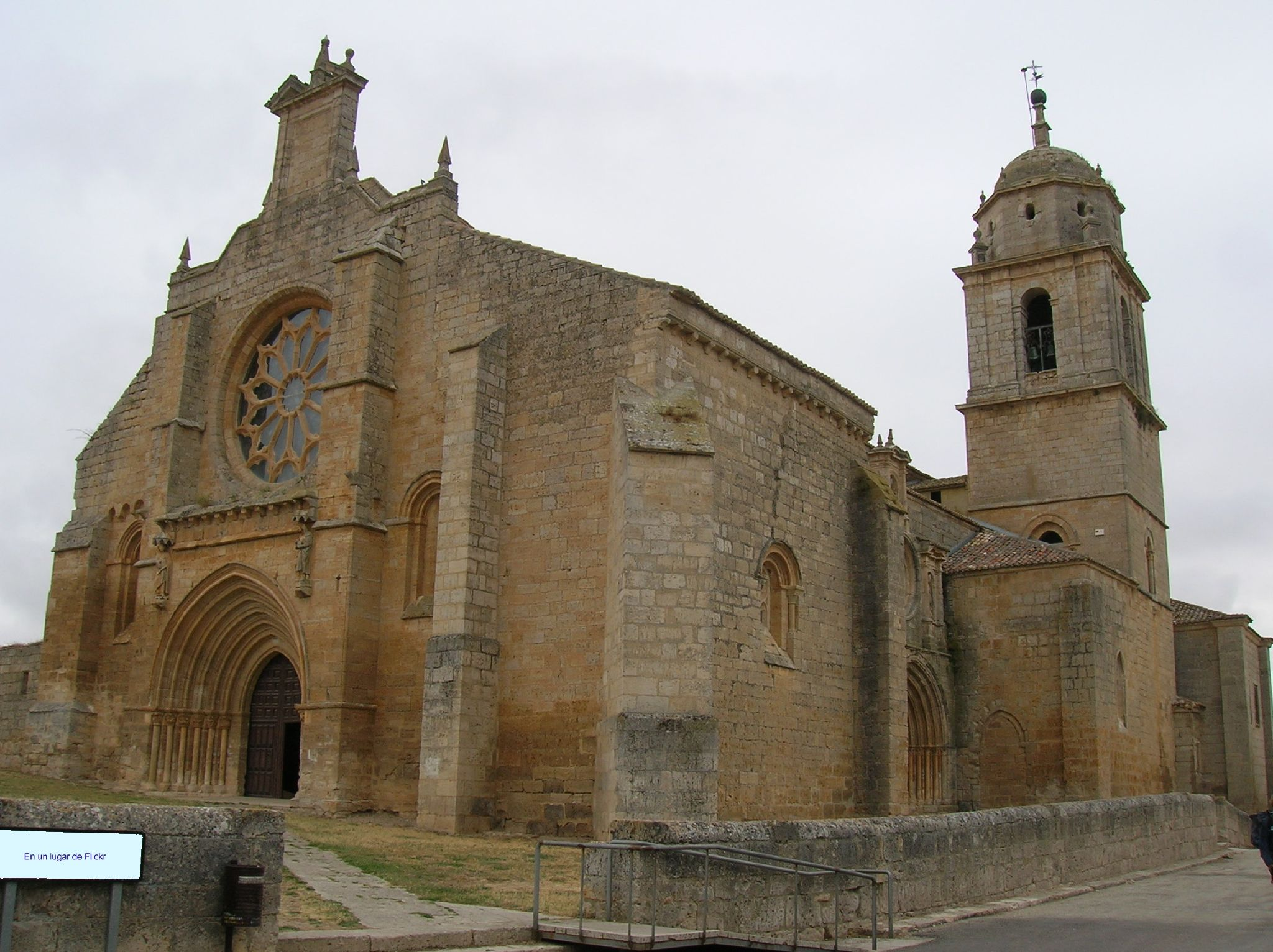 Collegiate Church of Santa María del Manzano in a cloudy day