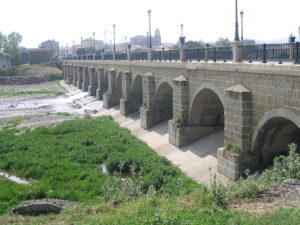 Bridge over the Oja River at the exit of Santo Domingo de la Calzada