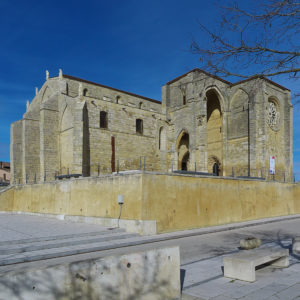 South view of the church of Santa María la Blanca in Villalcázar de Sirga