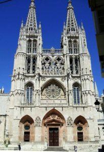 Main facade of the Burgos's cathedral