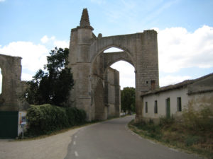 Portico of the old monastery of San Anton, with the road through which the road underneath