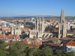 View from the viewpoint of the castle in Burgos