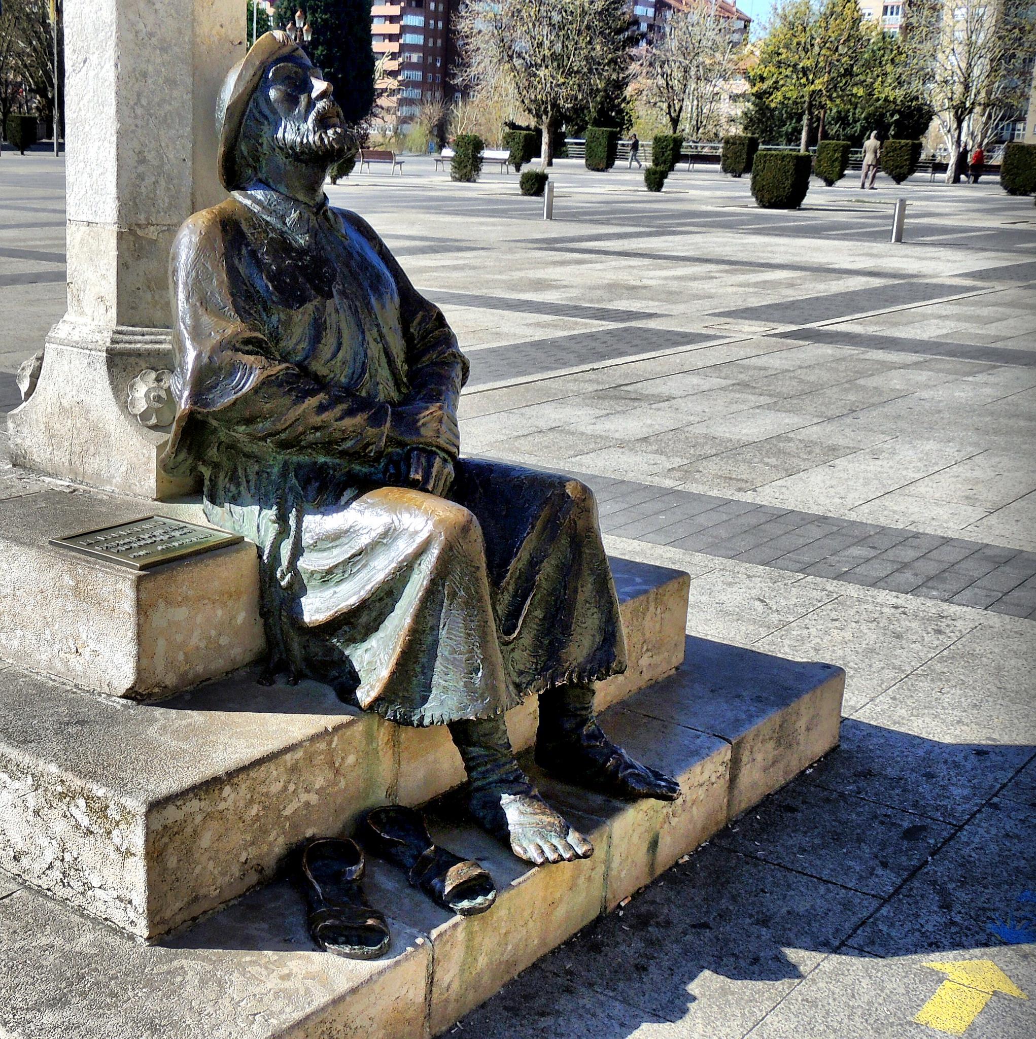 San Marcos, Monumento al peregrino (Fotografía cedida por José Luis Cernadas Iglesias)