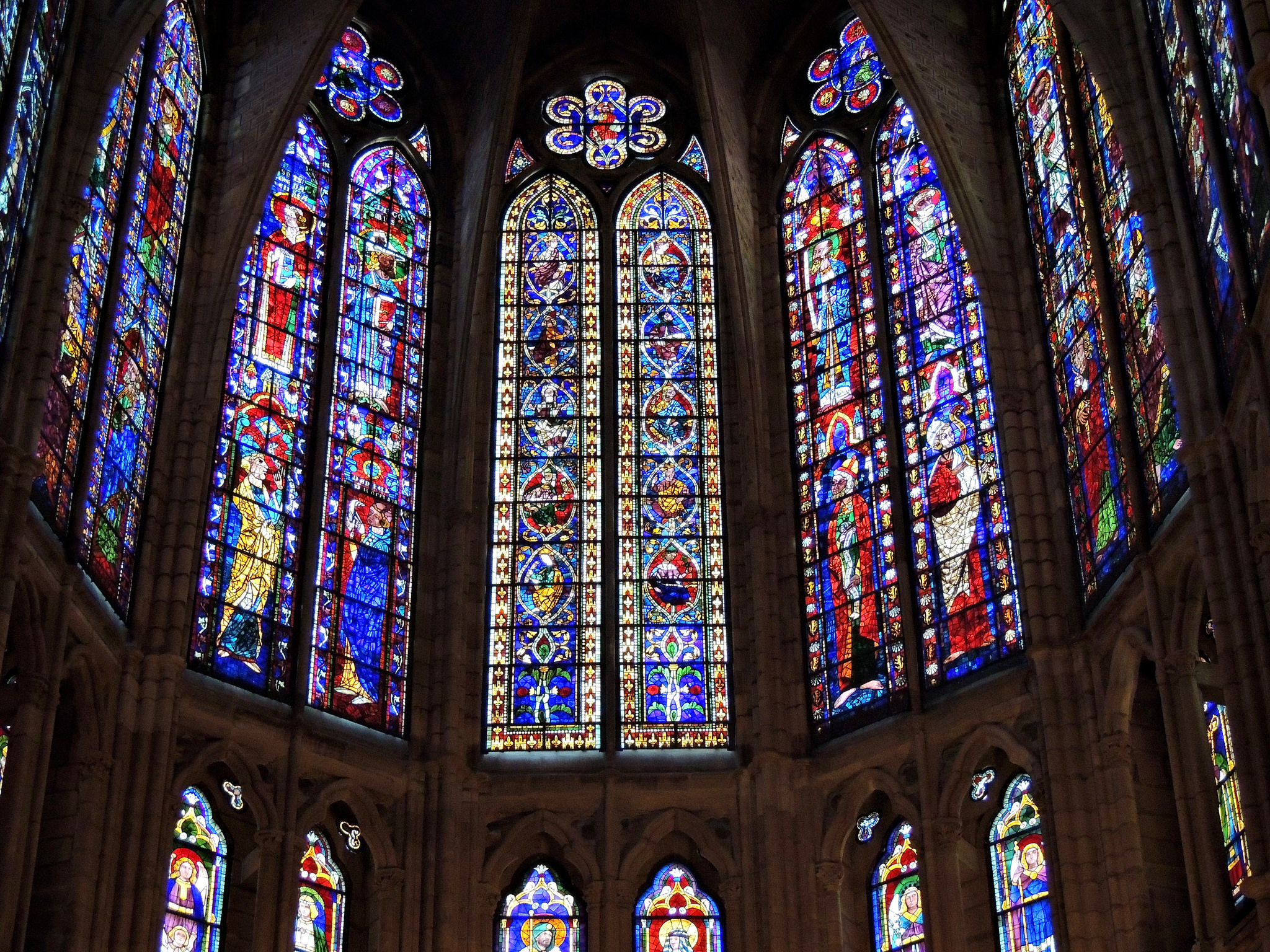 Stained glass window of the Cathedral of León