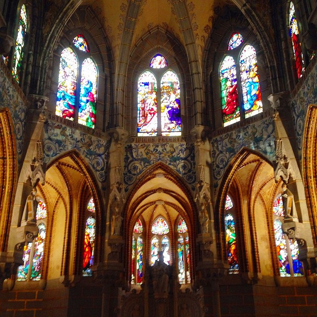 Stained glass Windows of the Palace of Astorga