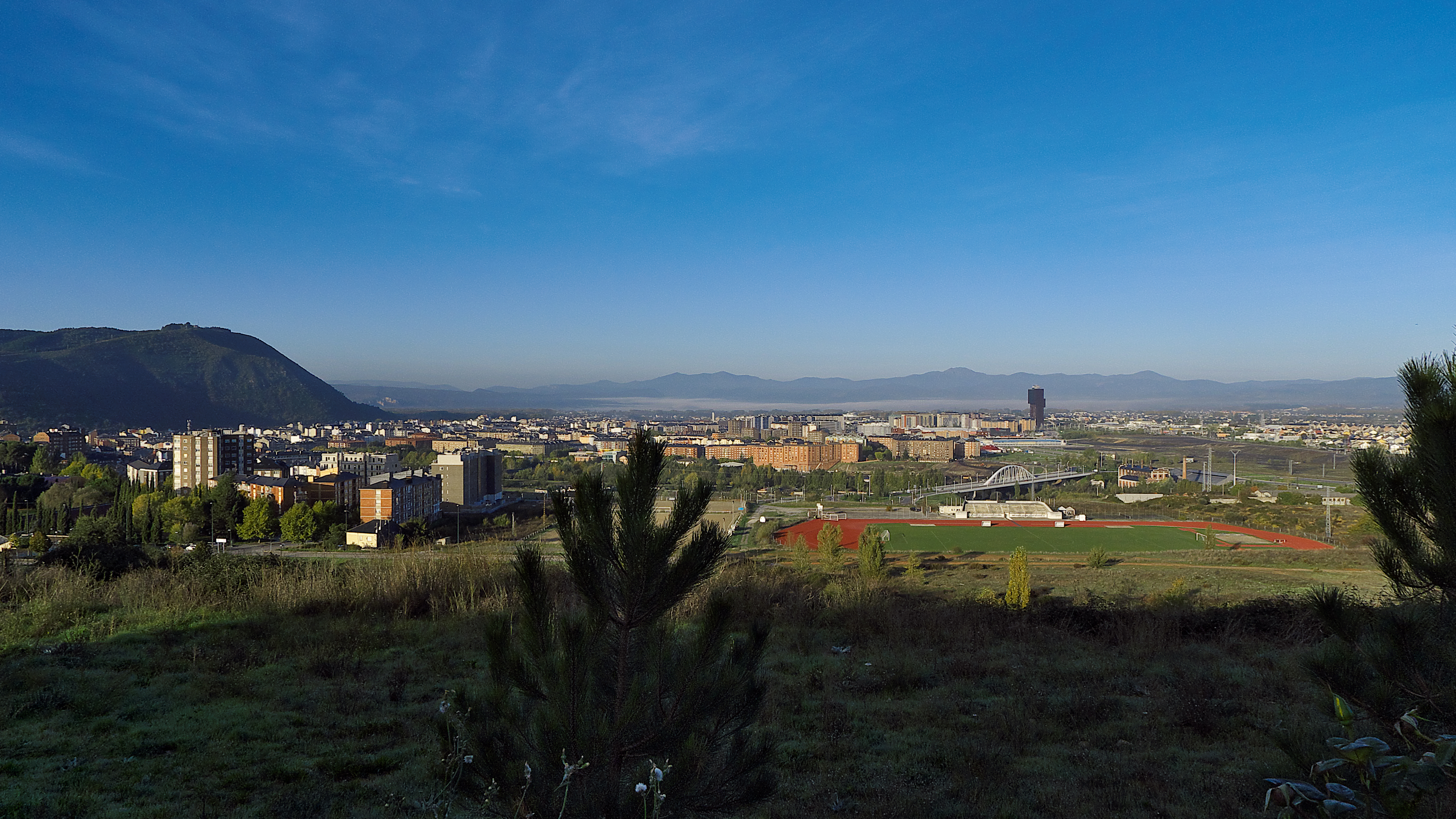 Panoramic view of Ponferrada