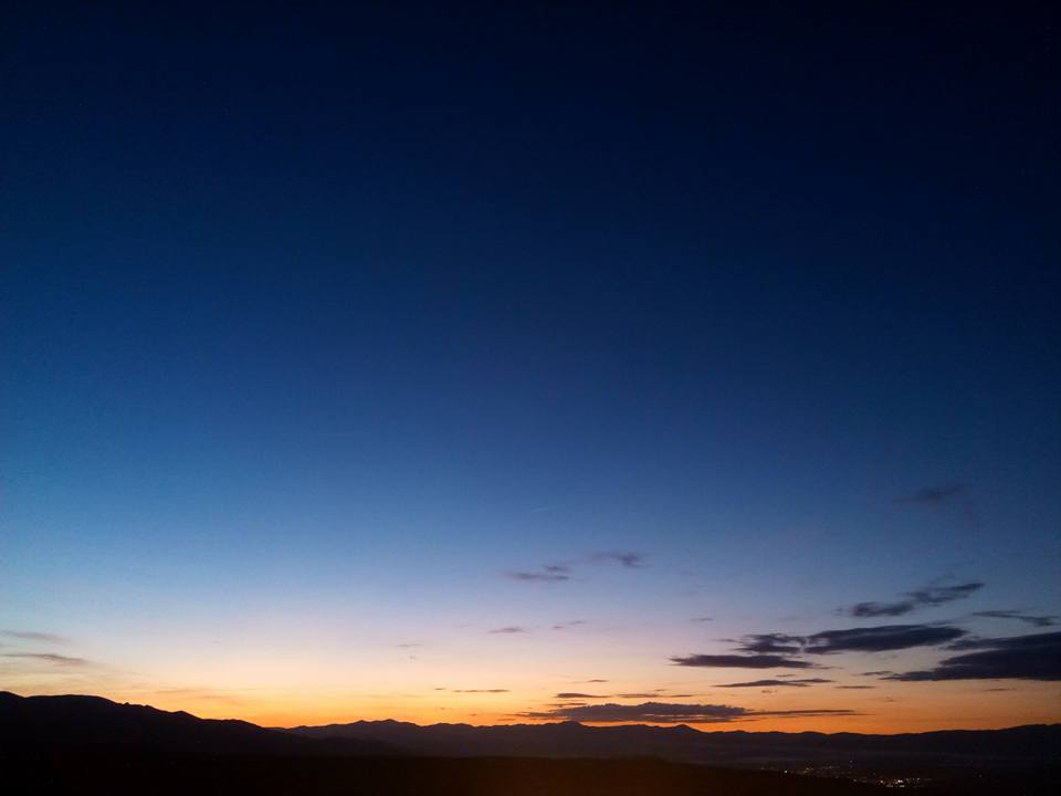 Sunset in Acebo village