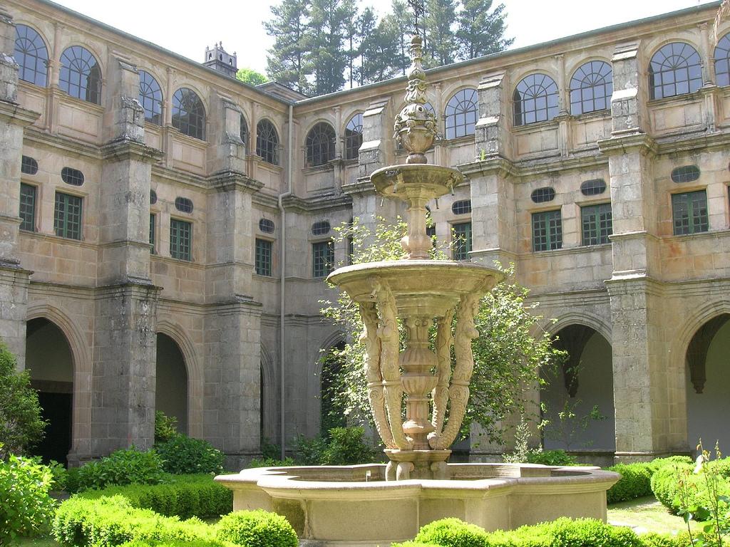 Claustro de las Nereidas en el monasterio de Samos