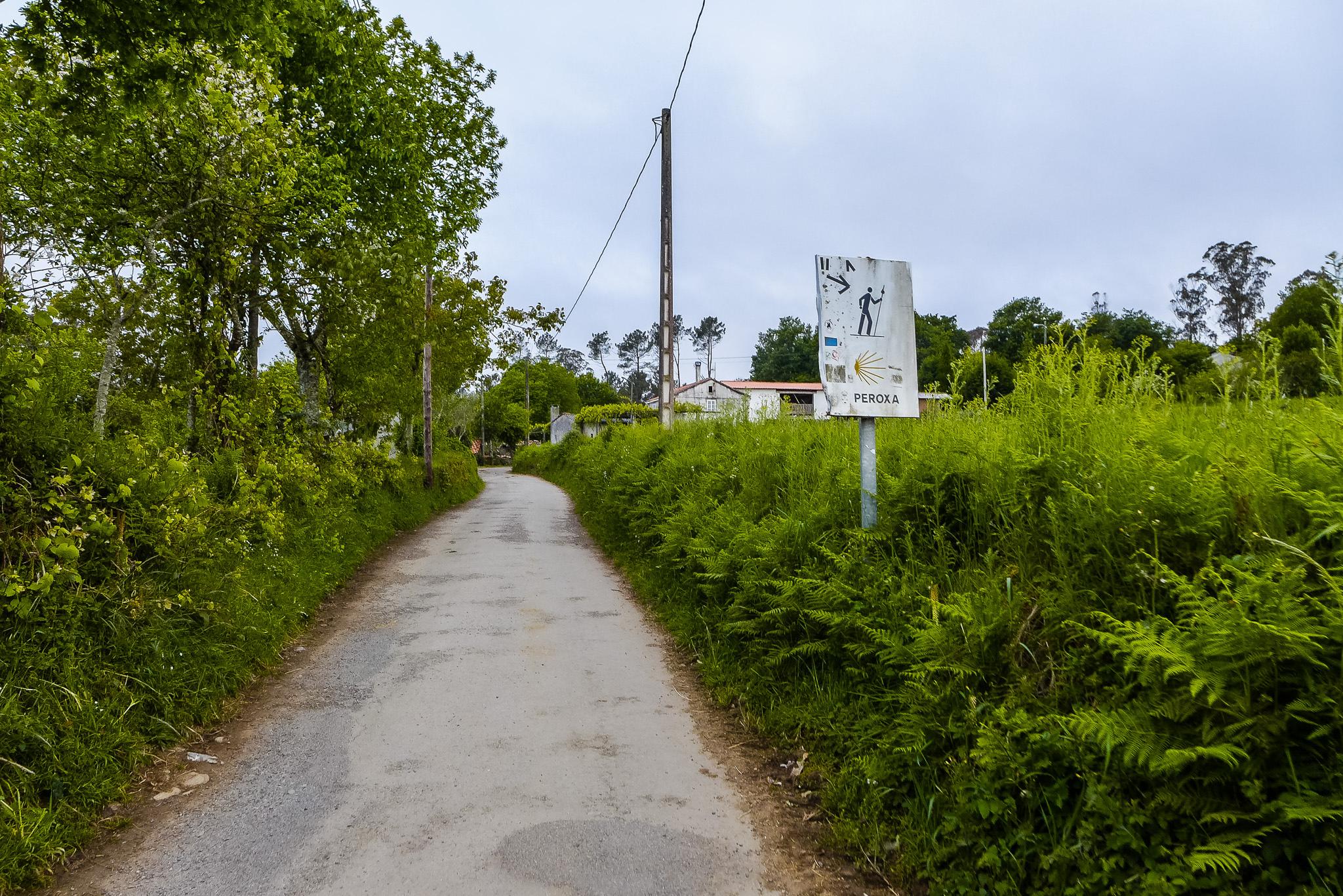 Localidad de A Peroxa durante el Camino de Santiago