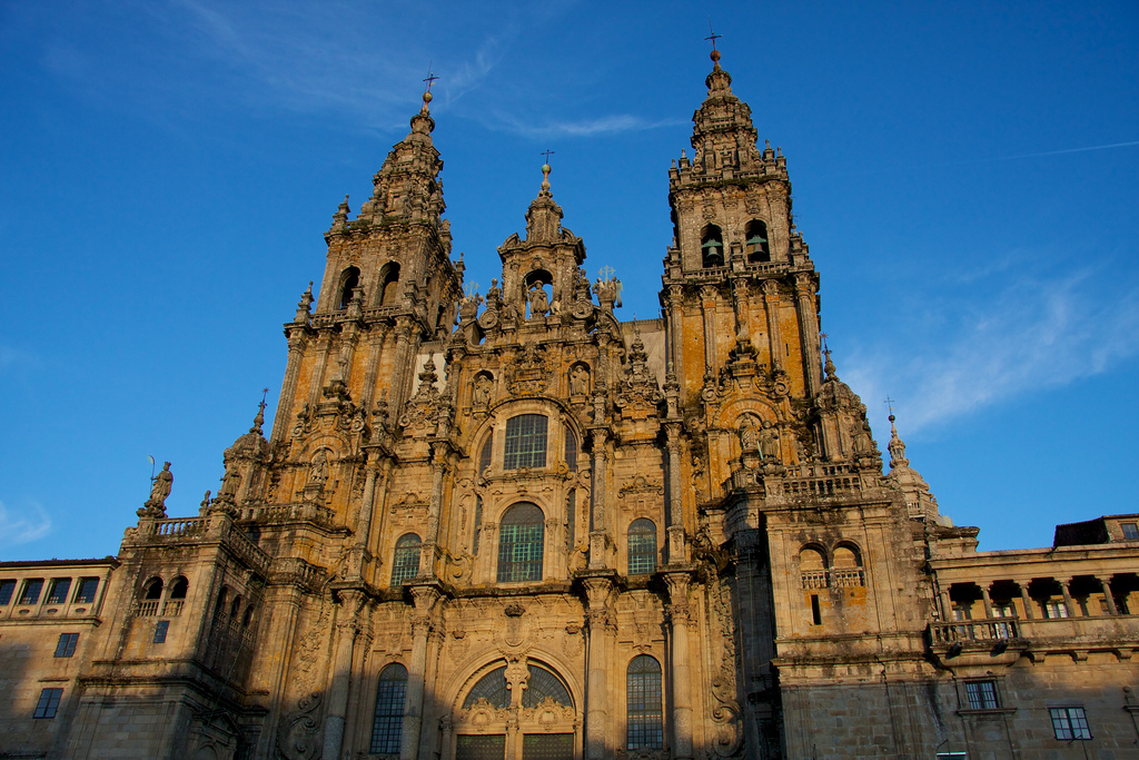 Final of the Saint James Way in the Cathedral of Santiago de Compostela