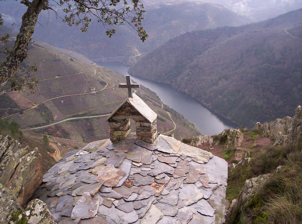 Hermitage in the Ribeira Sacra, in the Cañón del Sil