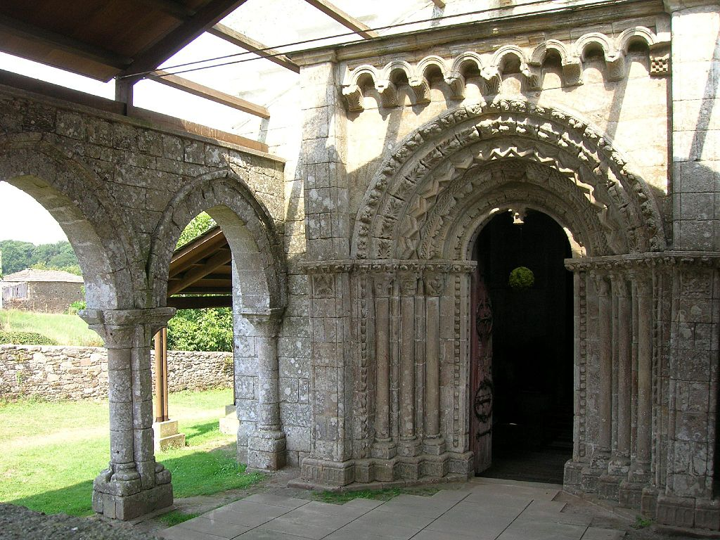 Entrance of the Church of Vilar de Donas
