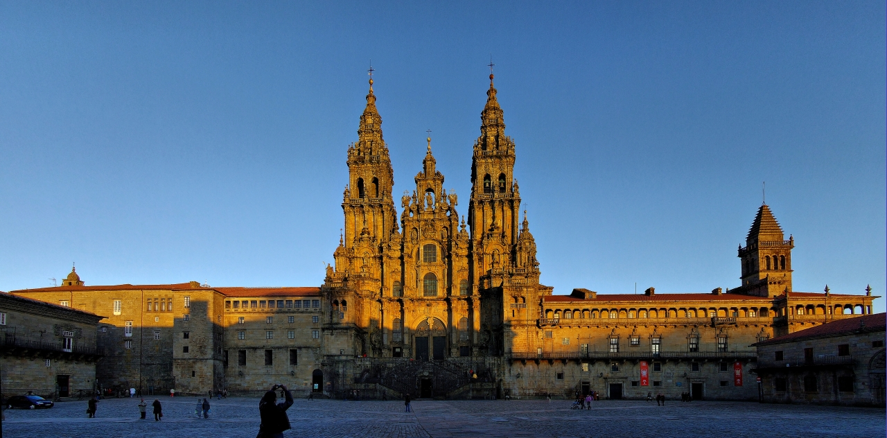 Cathedral of Santiago de Compostela. The end of the Saint James Way.