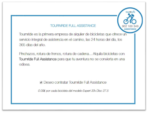 Tournride Full Assistence, ventaja imprescindible de Tournride.